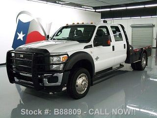 2015 Ford F - 550 Crew Cab Diesel Drw 4x4 Flat Bed photo