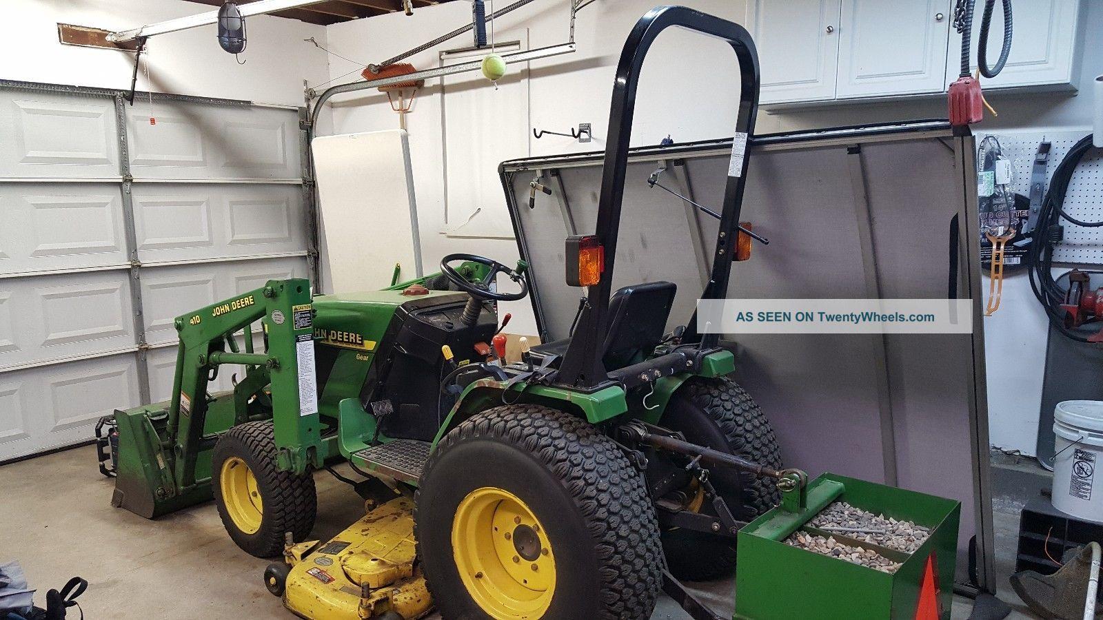 John Deere 4100 Diesel Tractor, Loader, Weight Box, Mower Deck, Brush Hog,  Blade