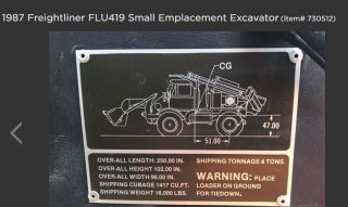 Small Emplacement Excavator photo