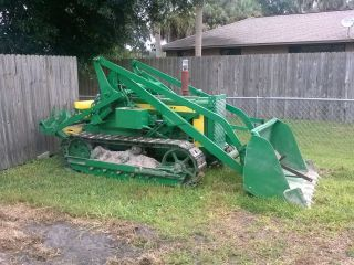 Antique 1957 John Deere 420c.  Crawler Loader photo