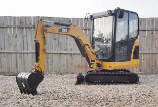1 Owner 2012 Caterpillar 301.  8c Mini Track Excavator Cab Heat Cat Blade Backhoe photo