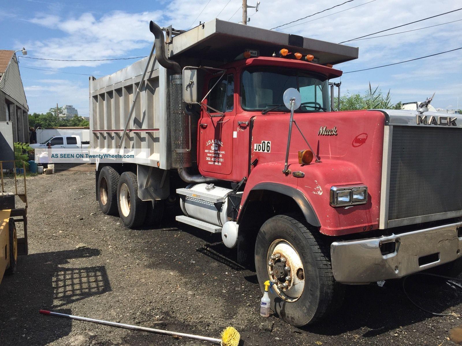 1993 Mack Superliner Rw713 Dump Trucks Tagged In Delaware