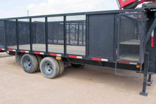 Deployment And Retrieval Trailer With Tugger - Dual Wheel - Gooseneck Trailer photo