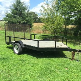 Utility Trailer 7 ' X11 ' Steel Bed photo