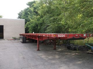 48 Foot Flatbed Trailer Talbot 1998 photo