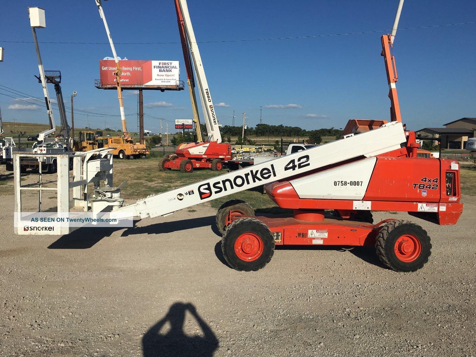 Snorkel Manlift Wiring Diagram Tb60 Electrical Diagrams Lift Tb42 Boom 42 Foot Diesel 4x4 Man Genie Jlg Runs Grea Ditch Witch