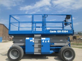 2004 Genie Gs - 3384 4wd Rough Terrain Scissor Lift Manlift Boom Aerial Lift Genie photo