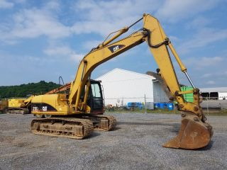2001 Caterpillar 315cl Excavator Hydraulic Coupler Thumb Diesel Tracked Hoe Cab photo
