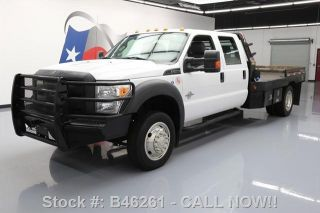 2012 Ford F - 550 Crew Cab Diesel Drw Flat Bed 6 - Pass photo