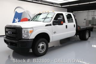 2016 Ford F - 350 Xl Crew 4x4 Diesel Dually Flatbed photo