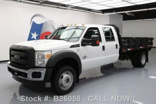 2013 Ford F - 550 Crew 4x4 Diesel Dually Stake/flatbed photo