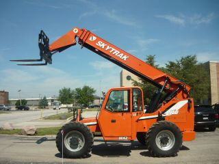 Skytrak 8042 Jlg Reach Forklift Telehandler Telescopic Forklift Full Cab Cummins photo