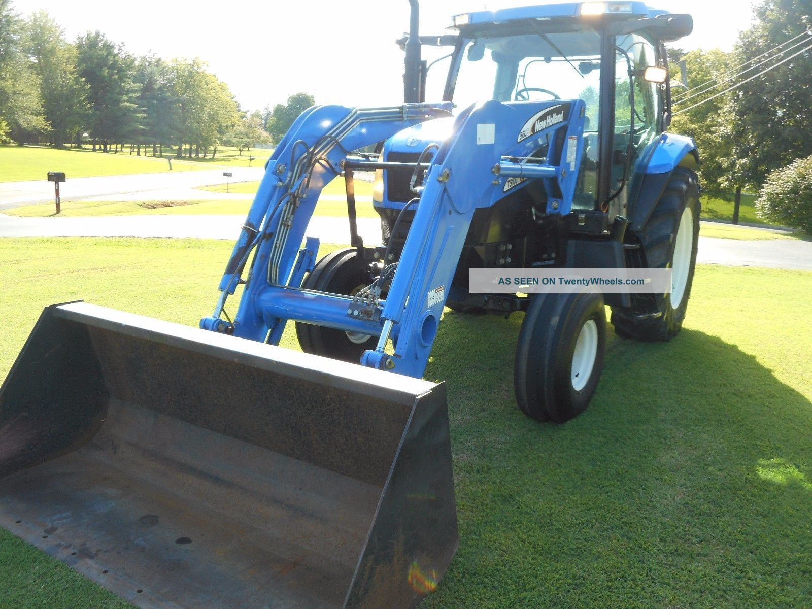 1 Owner: 2006 Holland Ts100a Cab+ Loader+ 2wd With Buddy Seat -