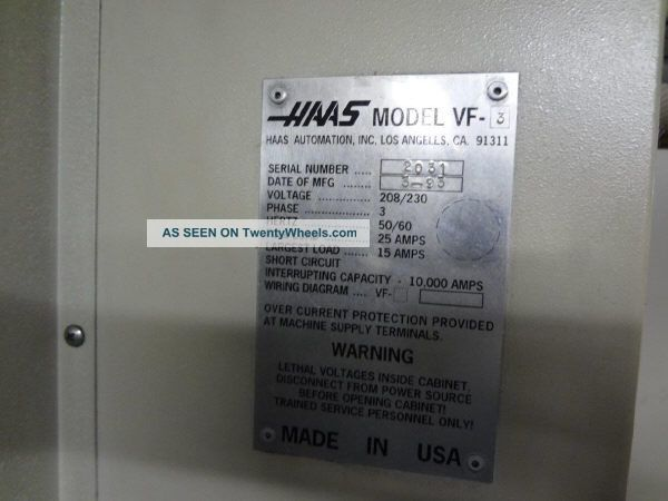 Vf3 Haas Cnc Vertical Machining Center - 27885 Haas Vf Wiring Diagram on haas vf-3yt, haas vf-2tr, haas vf-4, haas vm-3, haas vf-4ss, haas 5 axis,