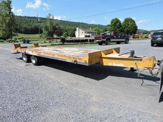 1994 Eager Beaver 10ha 10 Ton Equipment Trailer 19 ' Long With Air Brakes Backhoe photo