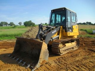 2007 John Deere 605c Crawler Loader,  Cab,  Air,  Only 4768 Hours, photo