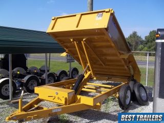 2016 Hawke 6 X 12 Cardinal 10k Dump Trailer Low Profile 10000 Gvwr Cat Yellow photo