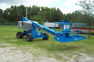 Genie S40 Boom Lift,  46 ' Work Height,  2008,  4 Wheel Drive,  Diesel,  Painted,  Decals photo