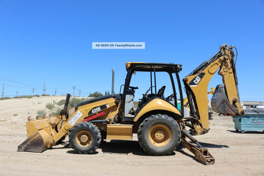 2008 Cat/caterpillar 420e Loader Backhoe 4x4 E - Stick Orops