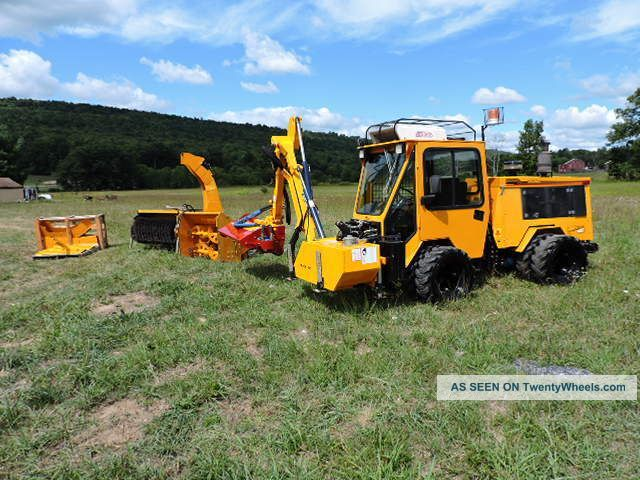 2003 Trackless Vehicles Mt5t With Boom Mower Snow Blower Power Broom