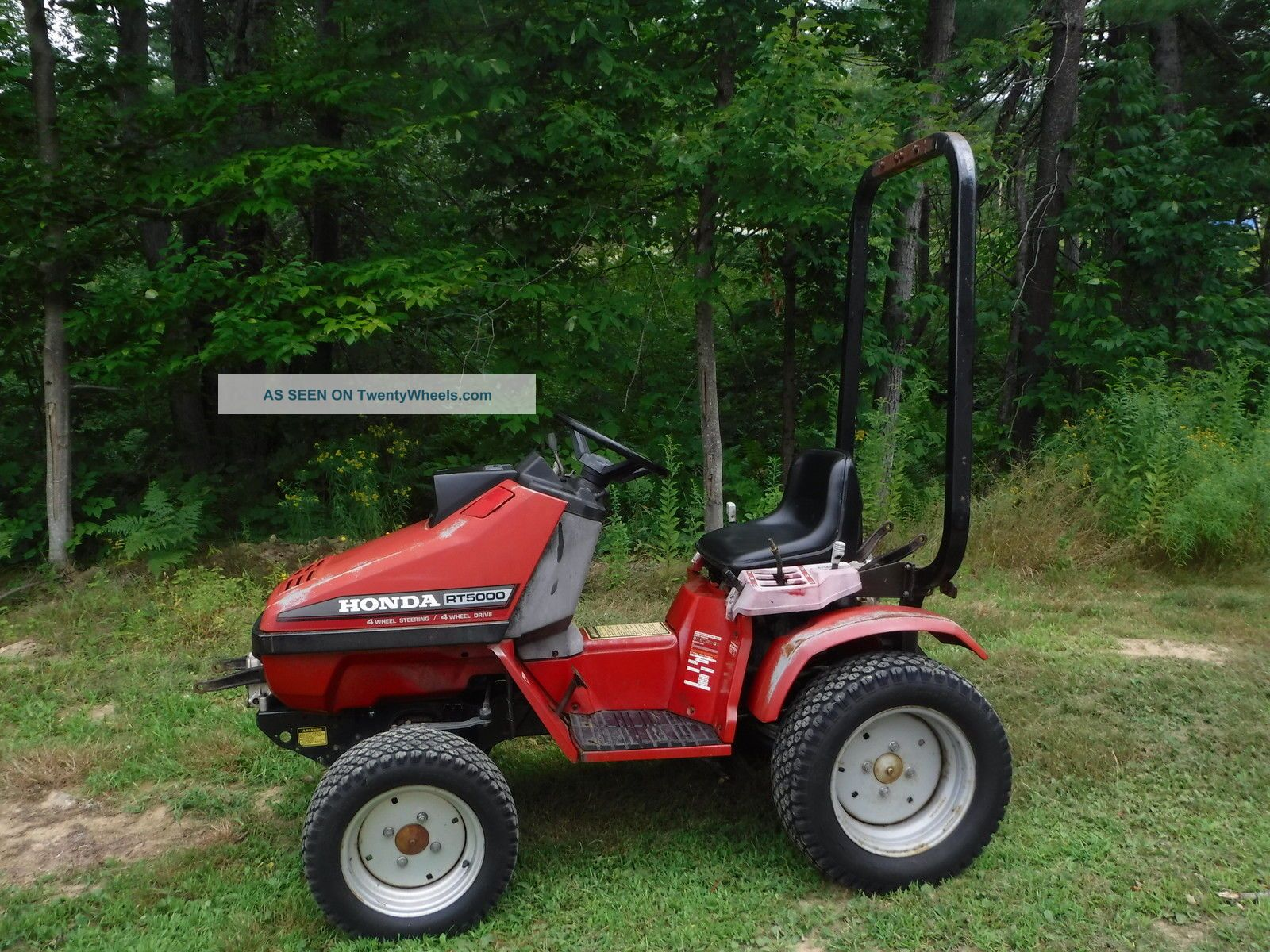4 Wheel Steer Tractors : Honda rt tractor wheel drive steer