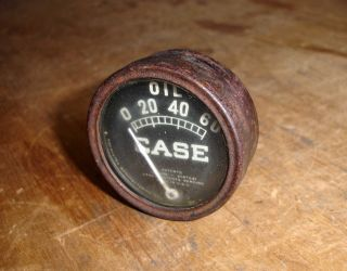 Vintage 1920 ' S 30 ' S Ji Case Tractor Oil Pressure Gauge C Cc L R K Cross Engine photo