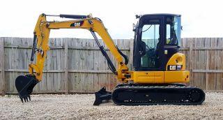1 Owner 2013 Caterpillar 305e Cr Mini Track Excavator Cab Heat Ac Cat Backhoe photo