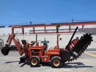 2001 Ditch Witch 5110 Trencher - Backhoe - Cable Plow - 6 Way Dozer Blade photo
