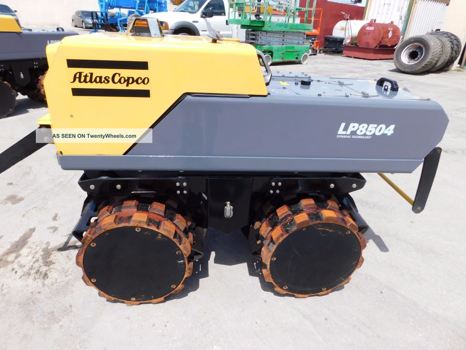 2014 Atlas Copco Lp8504 - Remote Control Trench Compactor - Padfoot Tandem Drums Compactors & Rollers - Riding photo