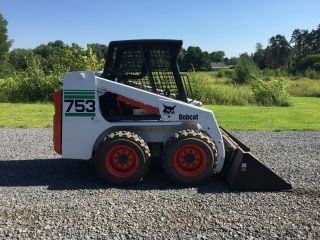 Bobcat 753 Skid Steer Loader Only 467 Hours W/bucket We Ship photo