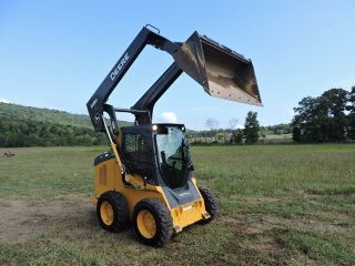 2012 John Deere 318d Wheel Skid Steer Loader Turbo Diesel 58hp 2 Speed photo