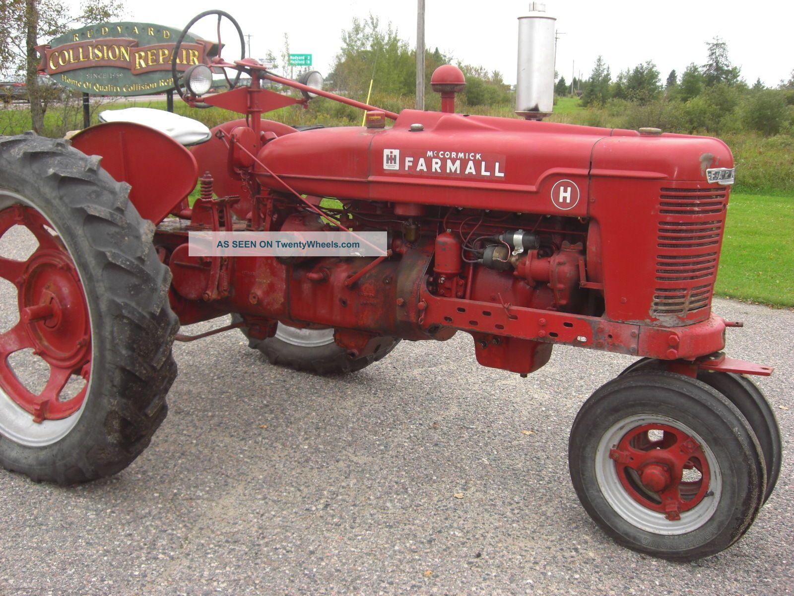 1940 International Harvester Mccormick Farmall H Wheeled Tractor