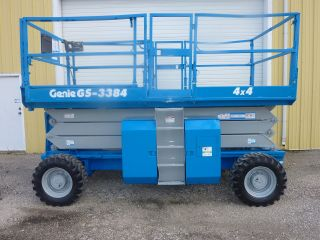 2008 Genie Gs - 3384 Diesel 4x4 Scissor Lift 600 Hrs photo