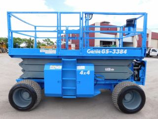 2008 Genie Gs - 3384 Rough Terrain 4x4 Scissor Lift - 39ft Work Height - Dual Fuel photo