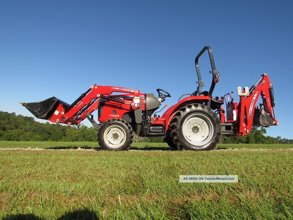 Massey Ferguson 1726e Tractor With Loader And Backhoe