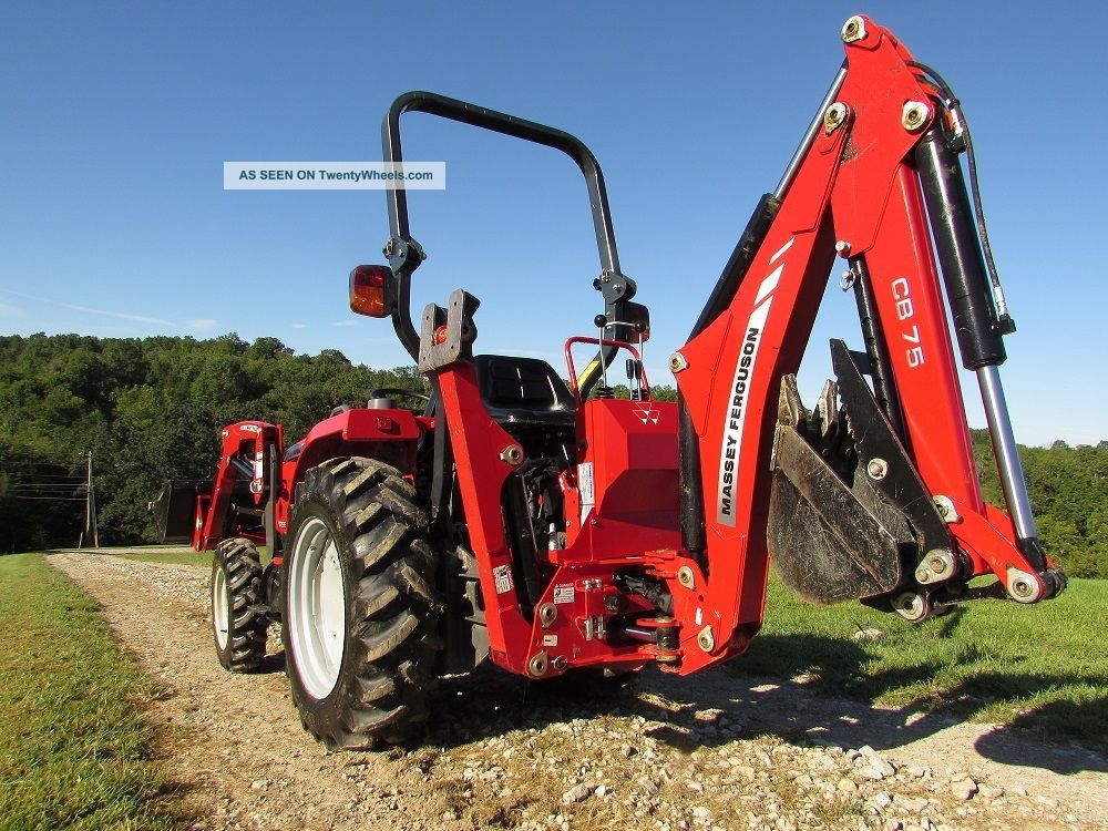 Massey Ferguson Tractor Loader Backhoe : Massey ferguson e tractor with loader and backhoe