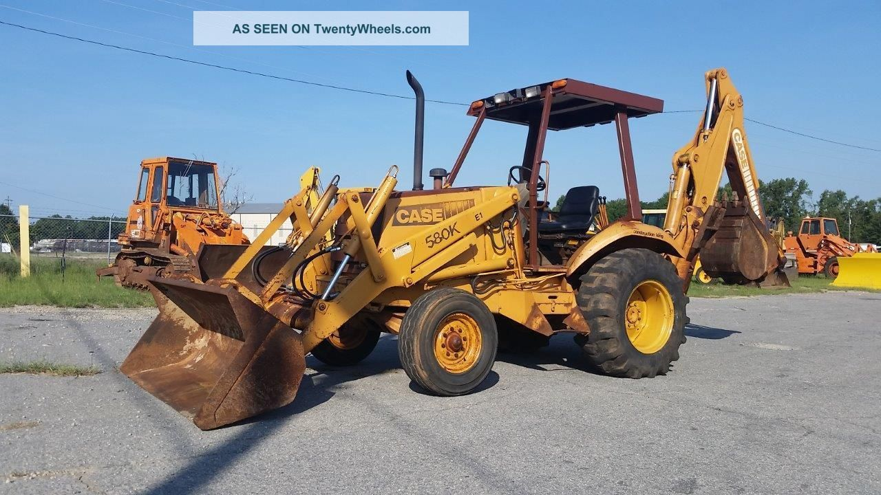 Case 580 K 2wd Backhoe With Open Cab - - Finance Available