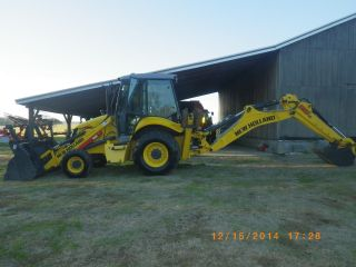 Backhoe,  Tractor,  Holland B95b,  Backhoe 4wd photo