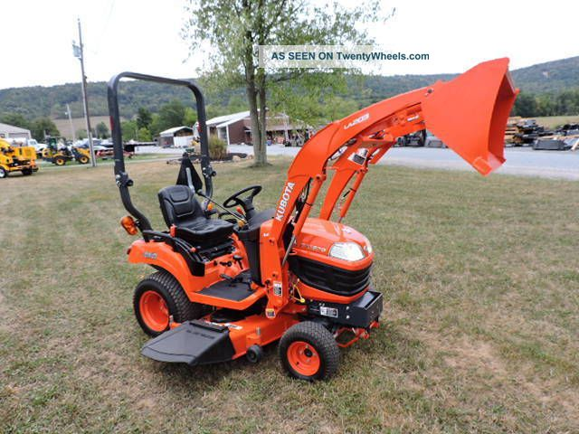 Kubota Sub Compact Tractors : Kubota bx sub compact tractor with quot mower