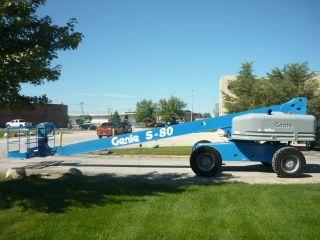 Genie S - 80 Boomlift Man Lift Telescopic Boom 4x4 Deutz Diesel Aerial Lift 800s photo