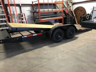 20 Tilt Trailer With Led Lights,  (2) 3500lbs Axles,  Electric Brakes,  Etc. . . photo