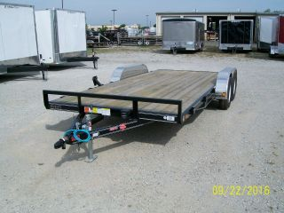 2016 Pj 18 ' Car Trailer 16 ' +2 ' Dovetail - 7,  000 Gvw - Pj Model C4 photo