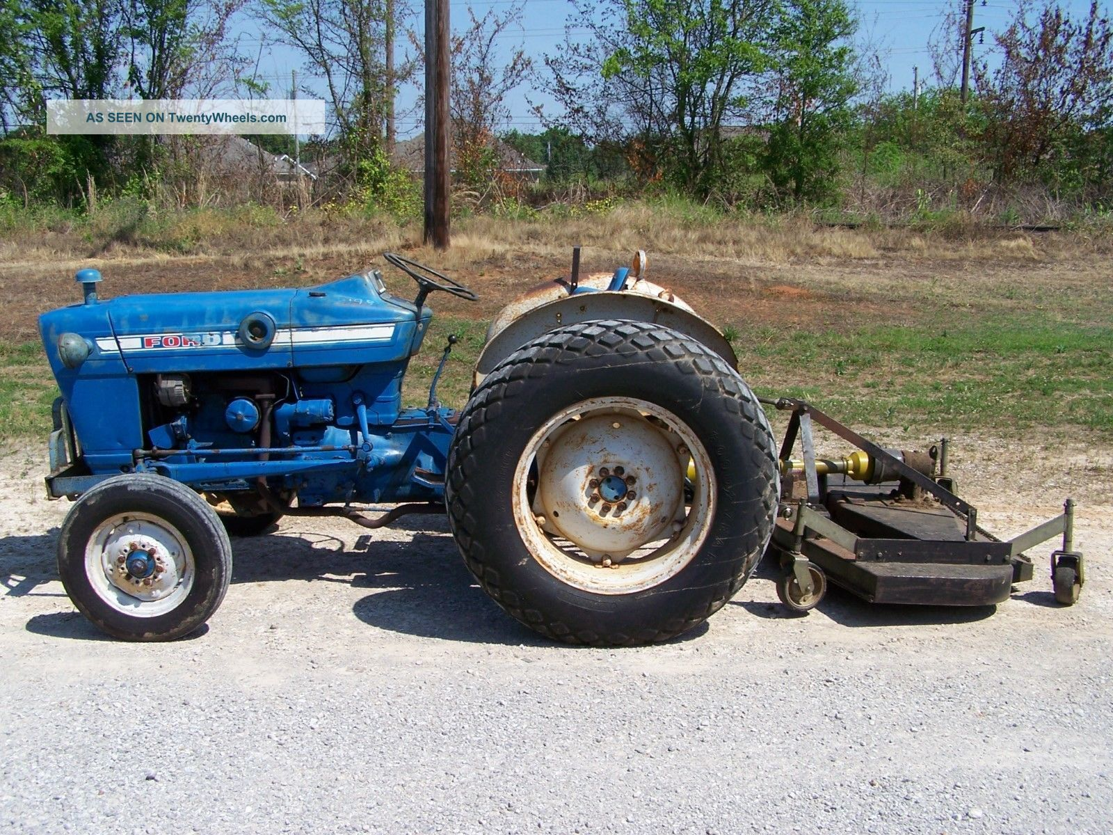 2000 Ford Tractor Information : Ford tractor with nortrac ft finish mower