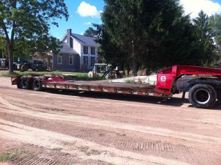 1987 Trail King 35 Ton Heavy Equipment Trailer Detachable Ngb Non - Ground Bearing photo