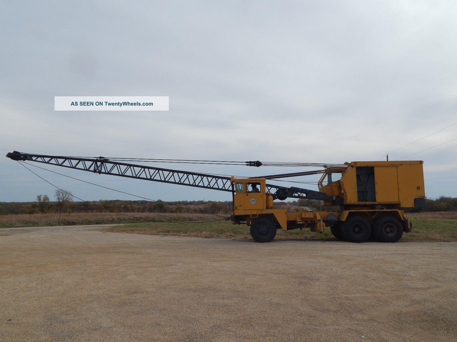 P & H 20 Ton Ged 6 X 6 Truck Crane Cranes photo