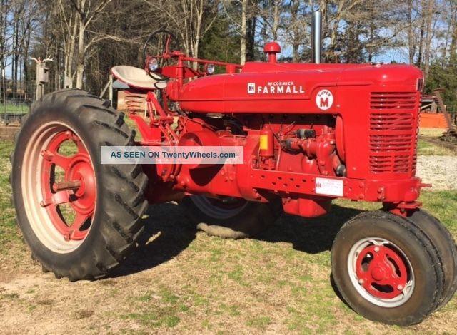 Farmall M Specifications : Farmall m tractor