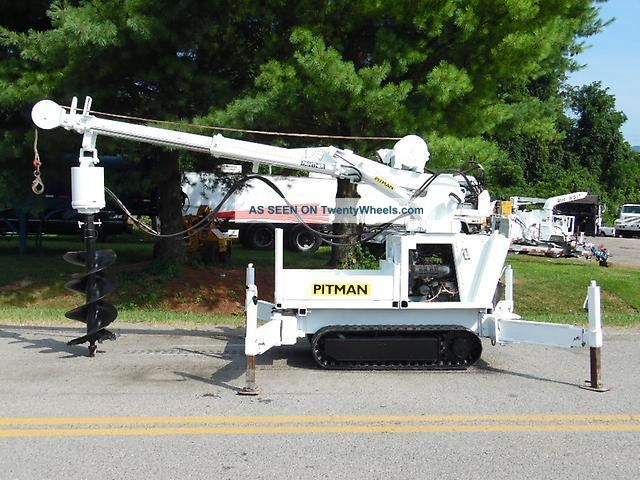 2000 Pitman Panther 4000t Back Yard Digger Derrick Mini Crane W/ Wireless Remote Cranes photo
