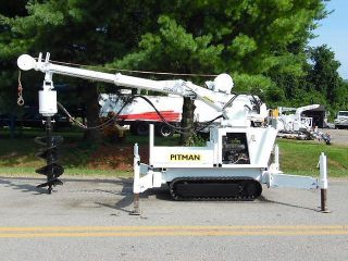 2000 Pitman Panther 4000t Back Yard Digger Derrick Mini Crane W/ Wireless Remote photo