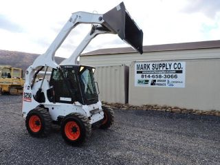 2005 Bobcat S250 Rubber Tire Skid Steer Loader Kubota Turbo Diesel Dozer Loader photo