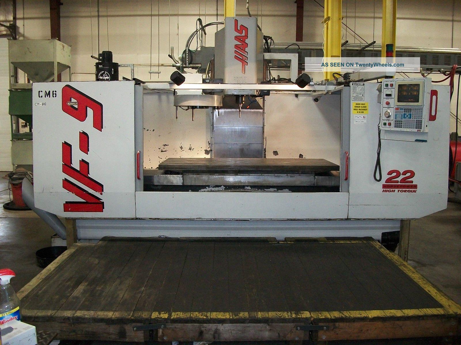 1997 Haas Vf - 9 Cnc Mill Milling Machines photo